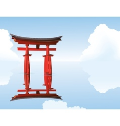 Sacred torii gates vector
