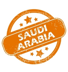 Saudi arabia grunge icon vector