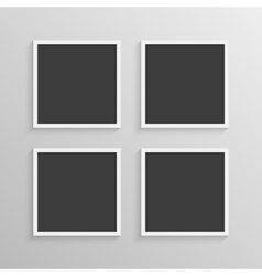 Set of frames with a simple design vector image vector image