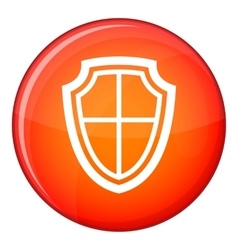 Shield icon flat style vector image vector image