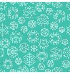 Snowflake winter Christmas seamless green and vector image