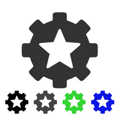 Star favorites options gear flat icon vector