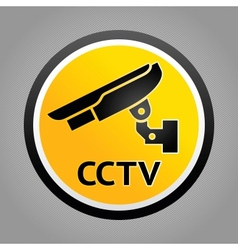 Surveillance warning symbols vector