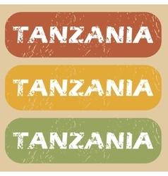 Vintage tanzania stamp set vector