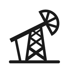 Drill oil industry icon vector