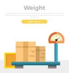 Weight concept web banner in flat style design vector