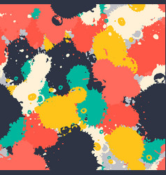 Art brush splash seamless pattern vector