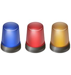 flashing lights set vector image