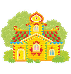 ornate log hut vector image