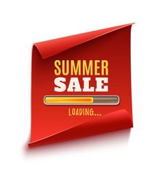 Big summer sale loading poster vector