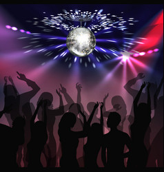 disco party dancefloor vector image