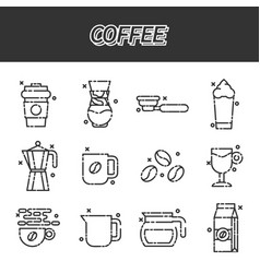 Coffee cartoon concept icons vector