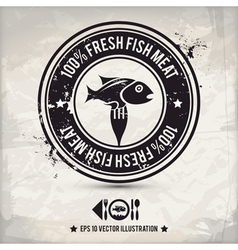 alternative fish stamp vector image