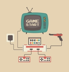 277old game player set vector image
