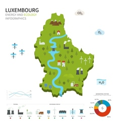Energy industry and ecology of luxembourg vector