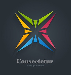 Star abstract colorful logo design template vector