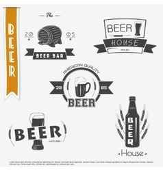 Beer and brewing set brewing typographic labels vector
