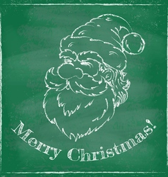 Santa chalk 2016 green vector