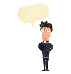 Cartoon priest with speech bubble vector