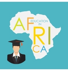 Business school education in africa concept vector