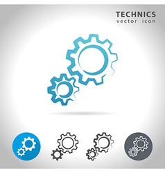 Technics icon set vector