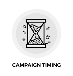 Campaign timing icon vector