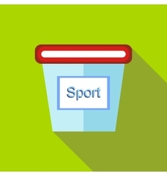 Containers for sports nutrition icon flat style vector