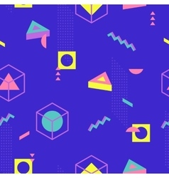 Abstract Geometric Pattern fashion 80-90s vector image vector image