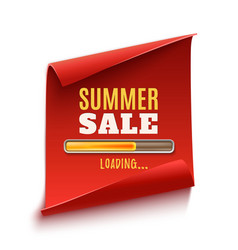 Big summer sale loading poster vector