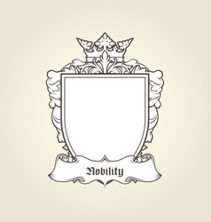 blank template of coat of arms - shield vector image vector image