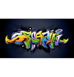 Bright graffiti lettering vector image