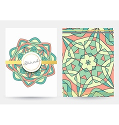 Business cover vintage style Paper with geometric vector image vector image