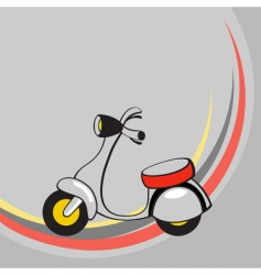 cartoon scooter vector image vector image
