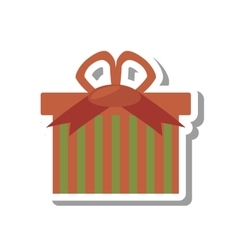 Christmas gift isolated icon vector