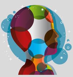 colorful head icon vector image