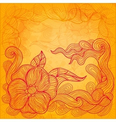 Colorful sunny doodle background vector image vector image