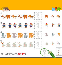 Complete the pattern activity vector