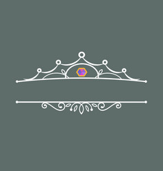 crown decoration with the gem vector image vector image