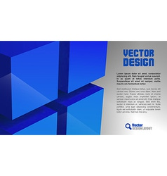 Cube layout blue vector