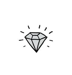 Diamond doodle icon vector