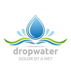 Drop water pure shapes symbol design icon vector