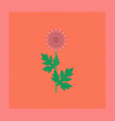 Flat shading style flower aster vector