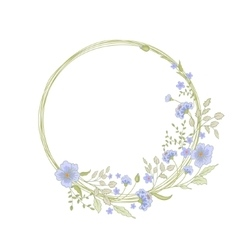 Floral frame cute flowers arranged un a shape of vector