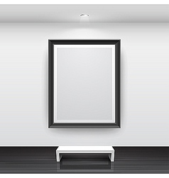 gallery interior with empty vector image