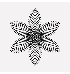 Isolated silhouette of flower design vector
