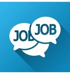 Labor market chat gradient square icon vector
