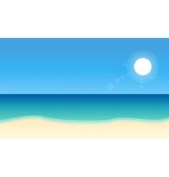 Landscape of beach collection stock vector image vector image