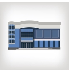 modern house isolated on vector image