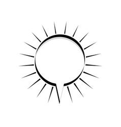 Monochrome silhouette circular shape dialog box vector
