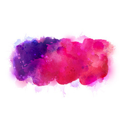 purple violet lilac and pink watercolor stains vector image vector image